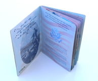 American passport open isolated Stock Photo