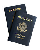 American passports. Isolated on a white background royalty free stock photos