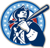 American Patriot Baseball Bat Retro royalty free illustration