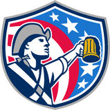 American Patriot Craft Beer Mug USA Flag Crest Retro Royalty Free Stock Photography