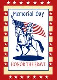 American Patriot Memorial Day Poster Greeting Card Royalty Free Stock Photos