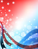 American patriotic abstract background Royalty Free Stock Image