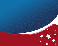 American Patriotic Background. With stars, in flag color with white star Stock Photo