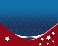 American Patriotic Background. With stars, in flag color with white star Stock Photography