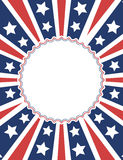 American patriotic background design Royalty Free Stock Photo