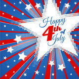 American Patriotic Background. Happy Independence Day background with stars and stripes. 4th of july retro poster. Patriotic banner. Greeting Card. Halftone Royalty Free Stock Photo