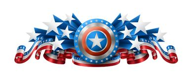 American Background with Shield Royalty Free Stock Photos