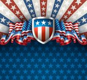 American Background with Shield Royalty Free Stock Images
