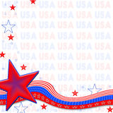 American Patriotic Background, Stars and Stripes Stock Photography