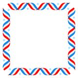 American patriotic backround, Independence day poster template, 4th July background. Striped ribbon flag frame. American patriotic background, Independence day 4 stock illustration