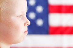 American patriotic boy Royalty Free Stock Photography