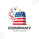 American patriotic company logo Royalty Free Stock Photos