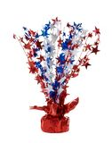 American Patriotic Decoration. American patriotic centerpiece with red, white, and blue stars Royalty Free Stock Photo