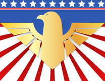 American patriotic design with golden eagle symbol Royalty Free Stock Photo