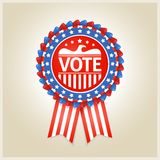 American patriotic election label Royalty Free Stock Photography