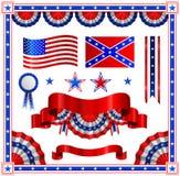 American patriotic elements. USA american patriotic elements. Independance day Stock Photos