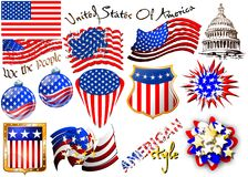 American patriotic elements Stock Images