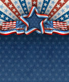 American Patriotic Fourth of July Background Royalty Free Stock Photos