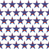 American patriotic seamless pattern with striped stars. American patriotic seamless pattern  by striped stars.  Vector  background  in red, blue, and white Stock Images