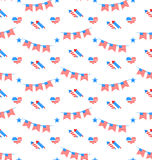 American Patriotic Seamless Pattern, US National Colors Royalty Free Stock Photo