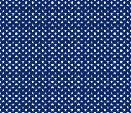 American patriotic seamless pattern white stars on blue backgrou. Nd. Vector illustration Royalty Free Stock Photos