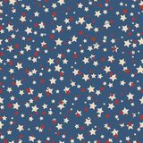 American stars seamless pattern. American patriotic stars seamless pattern in vintage colors Royalty Free Stock Image