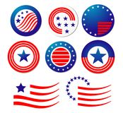 American patriotic symbols Royalty Free Stock Photography