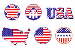 American patriotic symbols Royalty Free Stock Photo