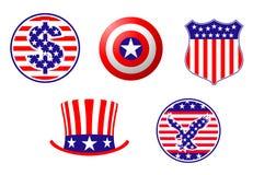American patriotic symbols Stock Photos