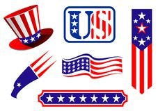 American patriotic symbols Royalty Free Stock Images