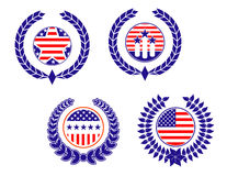 American patriotic symbols Royalty Free Stock Photos