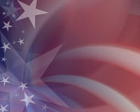 American Patriotism. Red, white & blue blurred background Royalty Free Stock Photos
