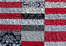 American Pattern Quilt Background. An American pattern quilt block background Royalty Free Stock Photo