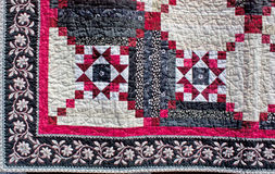 American Pattern Quilt Corner Royalty Free Stock Photography