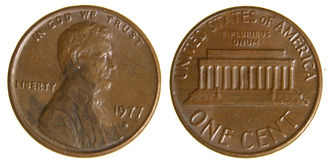 American Penny from 1977 Stock Image
