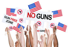 American people campaigning for gun control Royalty Free Stock Photography