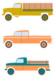 Retro american pickups. Royalty Free Stock Image