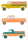 Retro american pickups. Royalty Free Stock Image