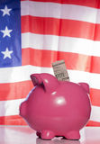 American piggy bank savings Stock Image