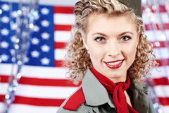 American pin-up woman Royalty Free Stock Photos