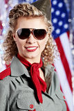 American pin-up woman Royalty Free Stock Photography