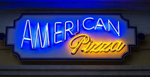 American pizza sign Stock Photography
