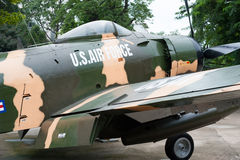 American plane at War Remnants Museum, Saigon Royalty Free Stock Image