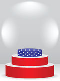 American podium. Nice podium with american flag on it Royalty Free Stock Image