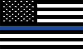 American police flag . Police department symbol Stock Photography