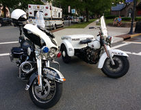 American Police Motorcycles, Rutherford, NJ, USA Royalty Free Stock Images