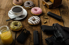 American police officer morning Royalty Free Stock Photos