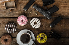 American police officer morning Stock Photography