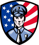 American Policeman Police Officer Stock Photography