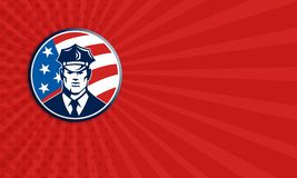 American Policeman Security Guard Retro Royalty Free Stock Image
